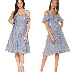 Calvin Klein Cold Shoulder Embroidered Dress NWOT